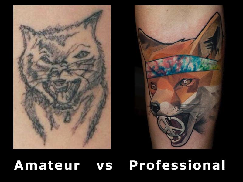 Разликата между аматьорите и професионалистите